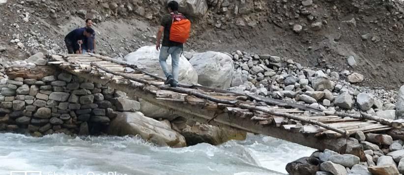 इतना  ख़स्ताहाल कभी न था पिंडारी ग्लेशियर का रास्ता