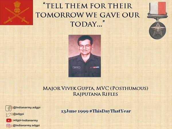 Kargil Martyr Major Vivek Gupta