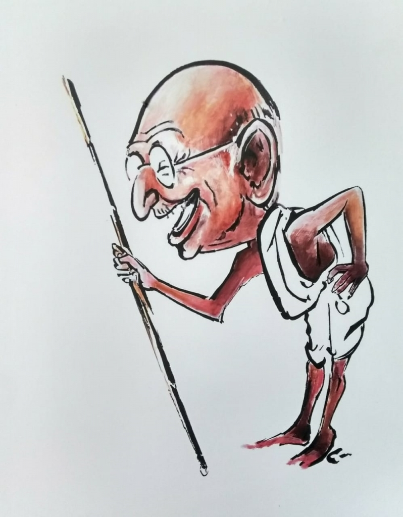 Gandhi's Cartoon exhibition in dehradoon