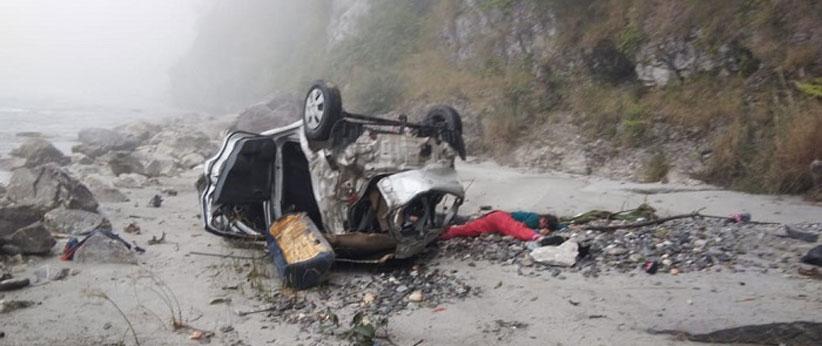 सड़क दुर्घटना में लाखामंडल के एक परिवार के 5 लोगों की मौत