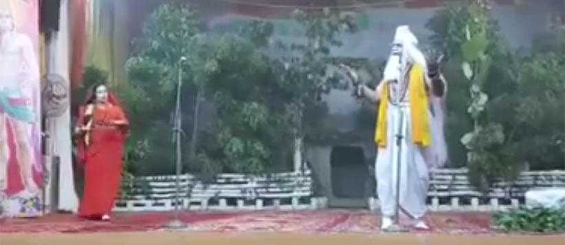 रावण का रोल कर रहे रुद्रपुर के विधायक ने माता सीता से कहा -