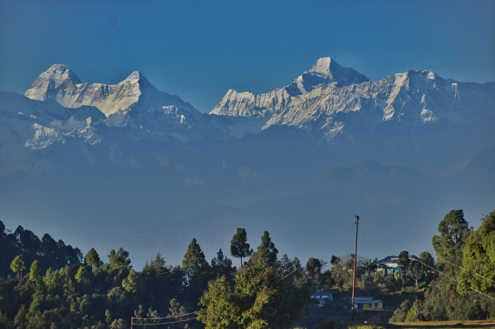 Himalaya form Chandak Hills Pithoragarh