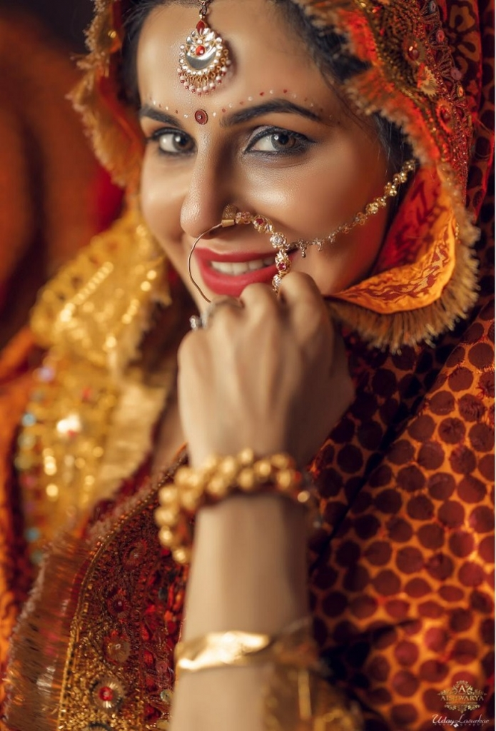 Photoshoot of Television Actress Roop Durgapal in Traditional Kumaoni Dress