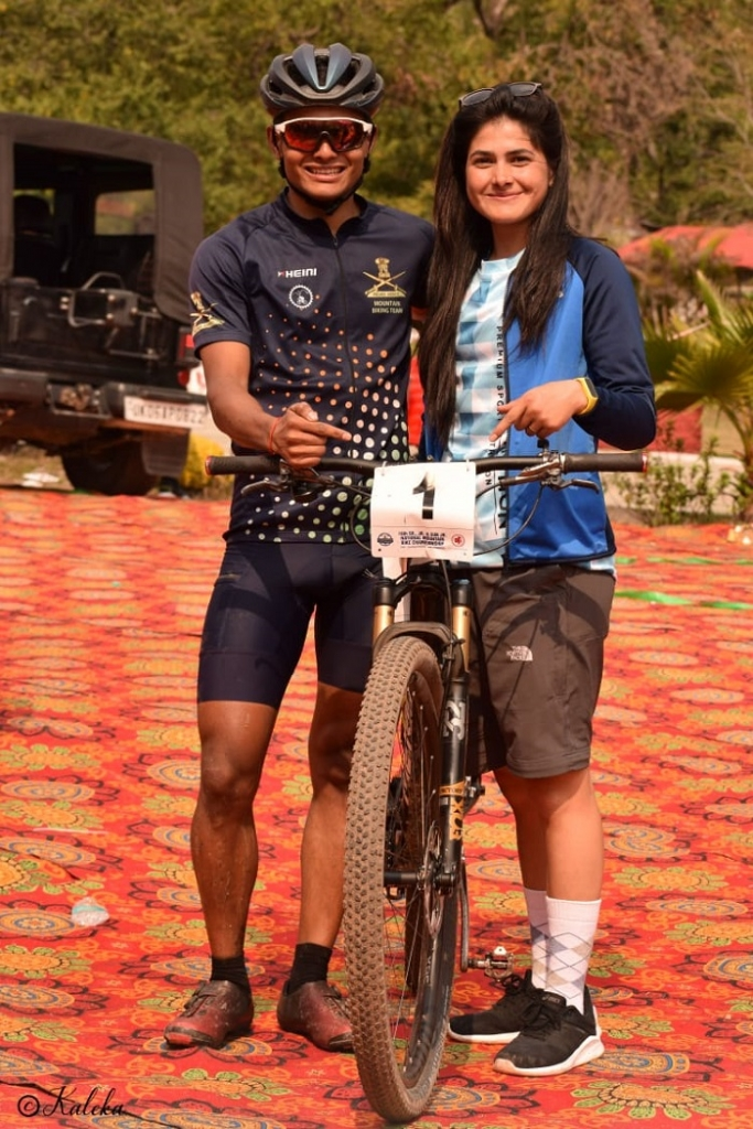 Cyclist Poonam Rana Kholia