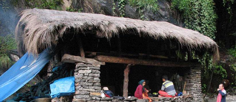 जिन चट्टानों को देख कमजोर दिल सहम जाते हैं वहां पहाड़ की महिलायें घास काटती हैं