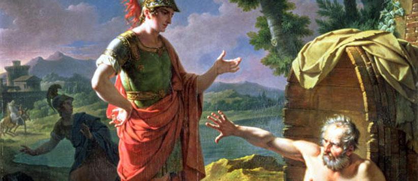 सिकंदर की तृष्णा और दार्शनिक फकीर डायोजनीज