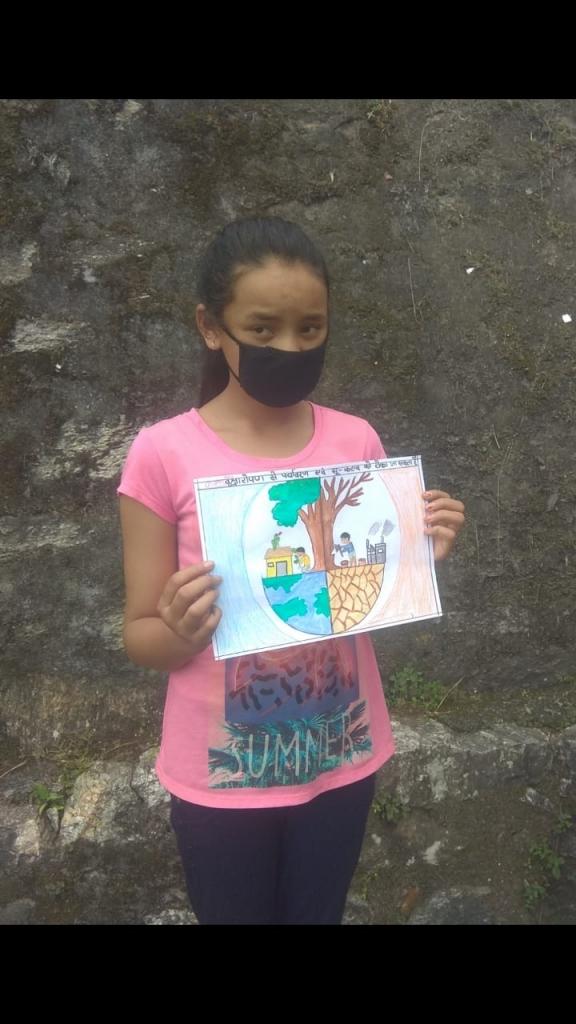 Munsiyari Dhapa Village Children's Painting