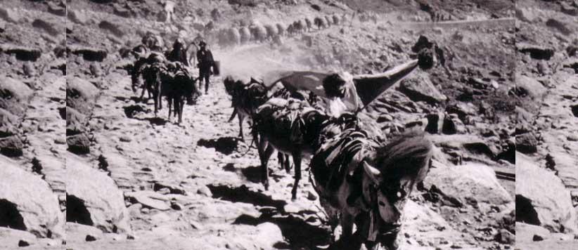 भोटान्तिक व्यापार के रास्ते, तरीके और माल असबाब