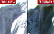 चमोली में हिमस्खलन से हुई तबाही का रास्ता दिखाती हैं सेटेलाइट से मिली तस्वीरें