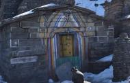 बर्फबारी के मौसम में शिव मंदिर तुंगनाथ की तस्वीरें
