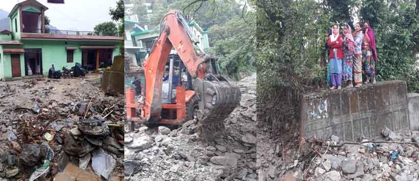 बेमौसम बारिश से चौखुटिया में भारी तबाही की तस्वीरें