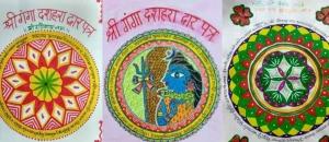 Making of Dussehra Dwar Patra