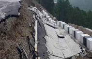 उत्तराखंड में 86 करोड़ की सड़क पहली बरसात नहीं झेल पाई